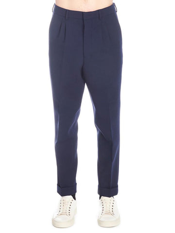 Ami Paris Straight-Leg Cuffed Trousers