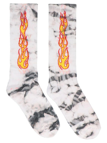 Palm Angels Flame Tie-Dye Socks