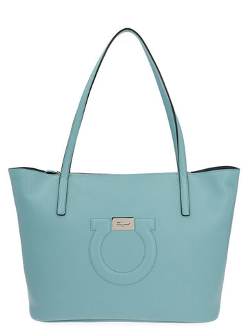 Salvatore Ferragamo Gancini Embossed Tote Bag