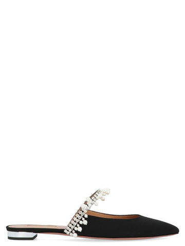 Aquazzura Crystal Embellished Mules