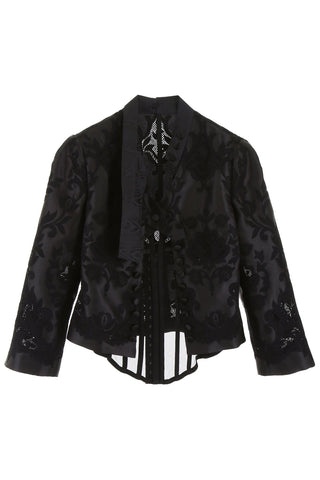 Dolce & Gabbana Lace Detail Cropped Jacket