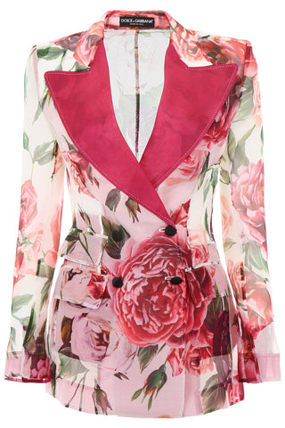 Dolce & Gabbana Floral Tailored Blazer