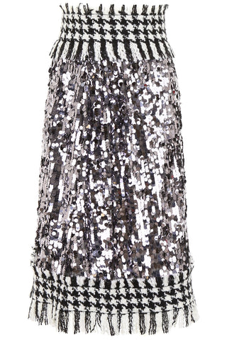Dolce & Gabbana Sequinned Tweed Skirt