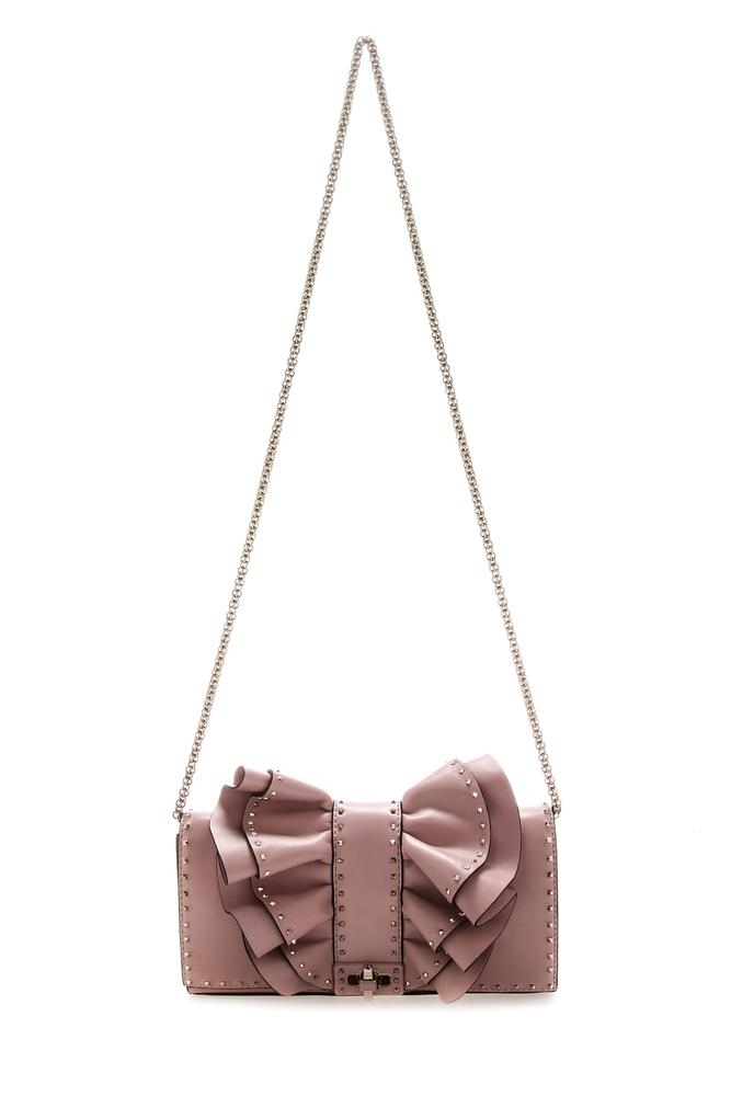 Valentino Garavani Rockstud Bow Chain Shoulder Bag