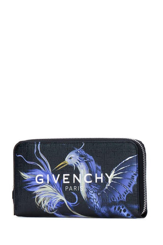 Givenchy Bird Print Zipped Wallet