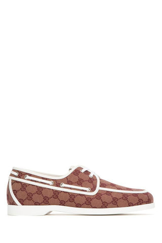 Gucci GG Canvas Lace-Up Shoes