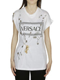 Versace Safety Pin Logo Print T-Shirt