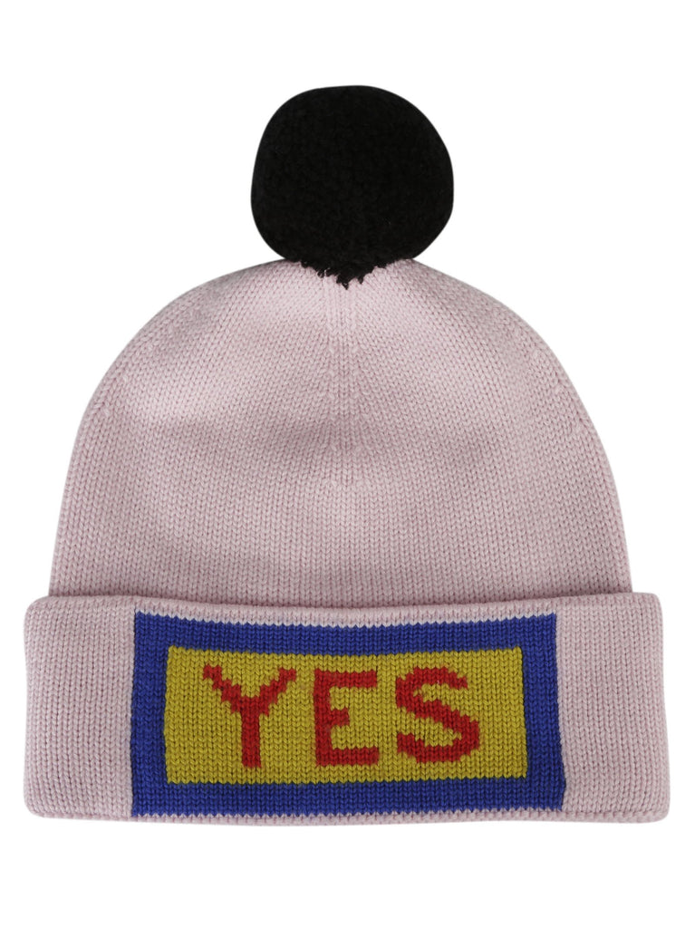 Fendi Yes Slogan Knit Beanie