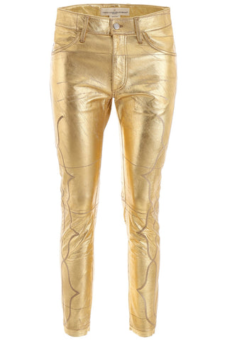 Golden Goose Deluxe Brand Metallic Cropped Pants