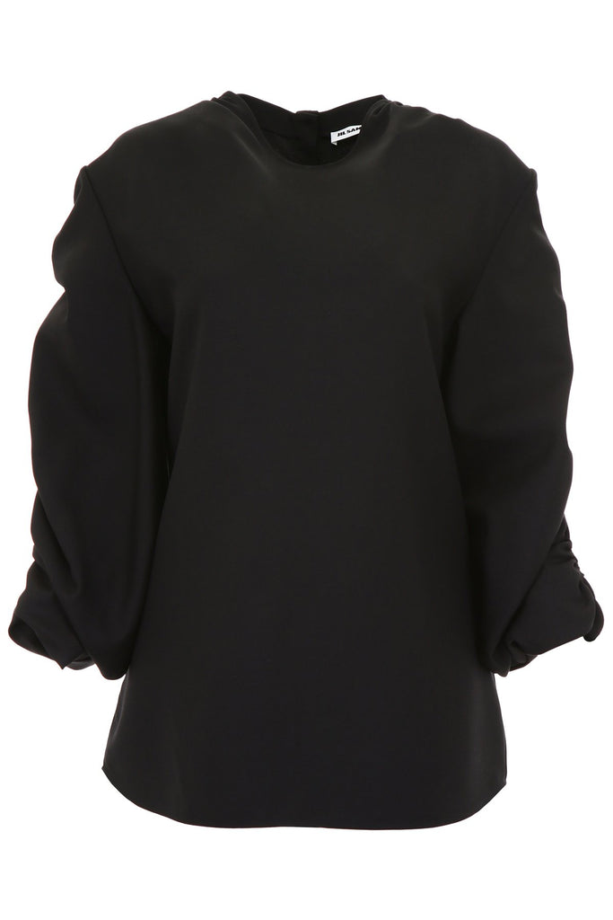Jil Sander Ruffled Sleeves Top