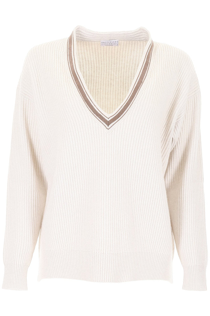 Brunello Cucinelli Low V-Neck Jumper