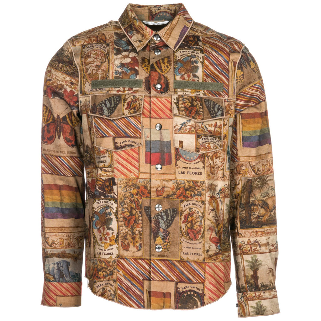 Valentino Graphic Printed Snap-Buttons Shirt