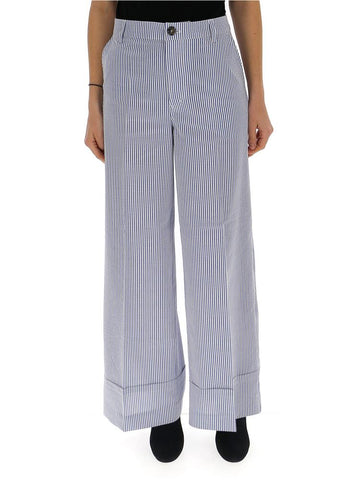 Ganni Wide Leg Printed Pants