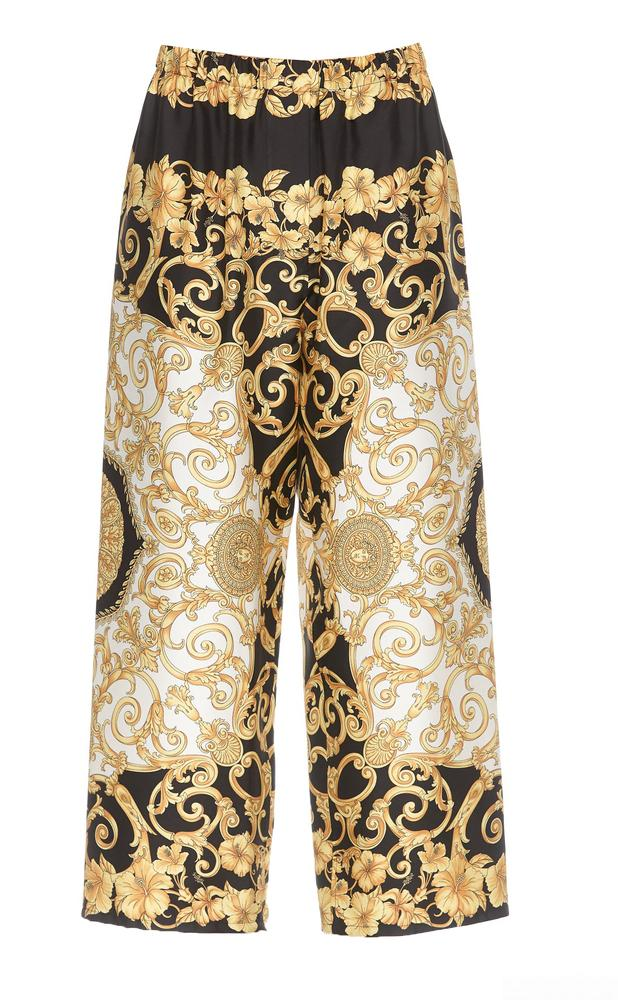 Versace High-Waisted Printed Trousers