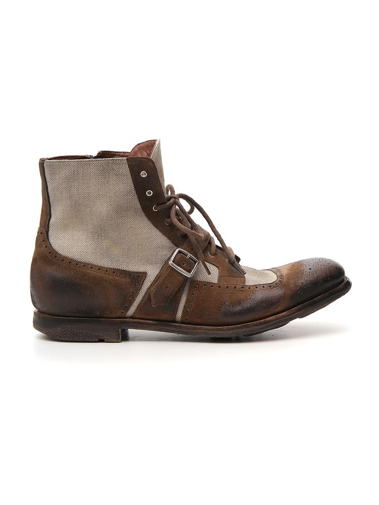 Church's Oxford Panelled Lace-Up Boots
