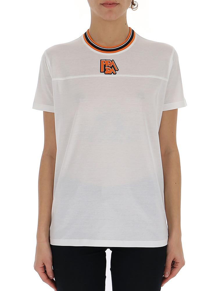 Prada High-Neck Logo T-Shirt