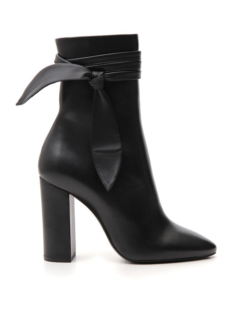 Saint Laurent Wrap Bow Detail Boots