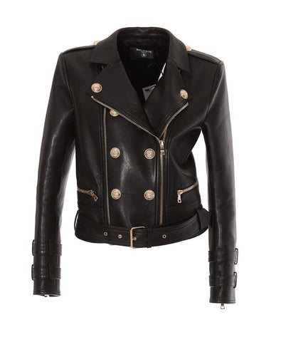 Balmain Double Breasted Buttoned Biker Jacket