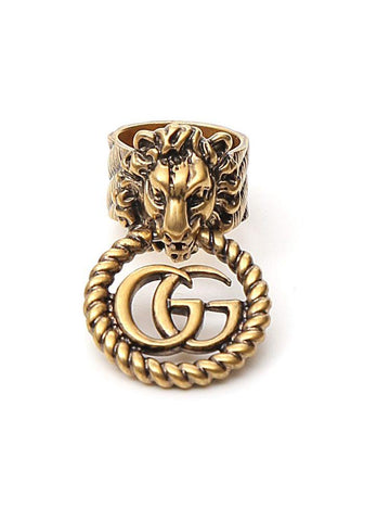 Gucci GG Lion Head Ring