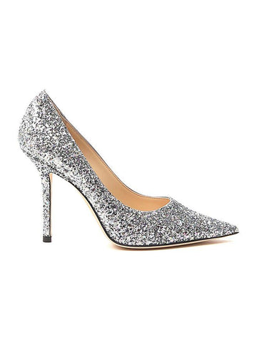 Jimmy Choo Love 100 Glittered Pumps