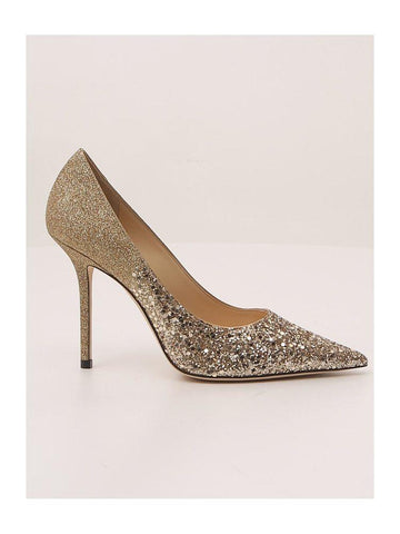 Jimmy Choo Love 100 Glitter Stiletto Pumps