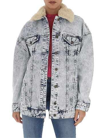 Michael Michael Kors Contrast Collar Denim Jacket