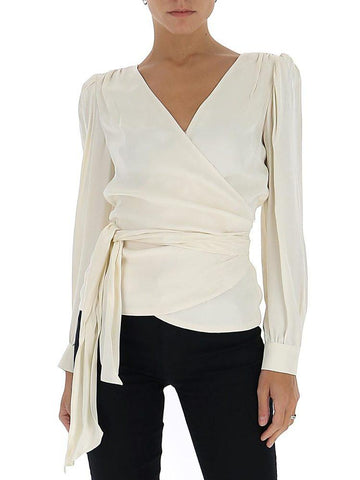 Michael Michael Kors Wrapped V-Neck Blouse
