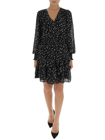 Michael Michael Kors Dotted Wrap Dress