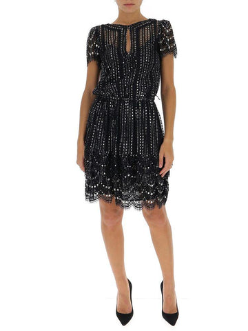 Michael Michael Kors Crystal Embellished Mini Dress