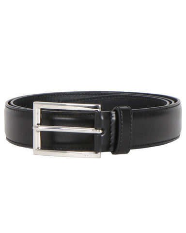Prada Logo Metal Buckle Belt