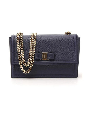 Salvatore Ferragamo Vara Bow Chain Shoulder Bag