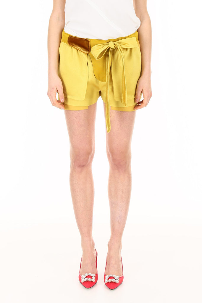 Valentino Hammered Silk Shorts