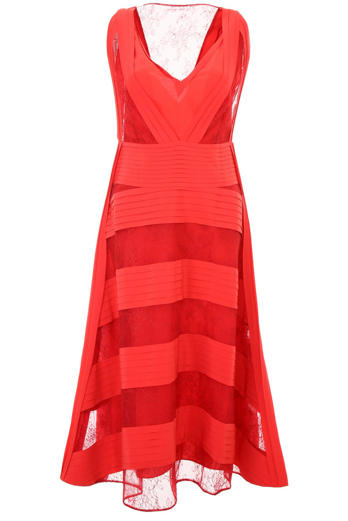 Valentino V-Neck Panelled Dress