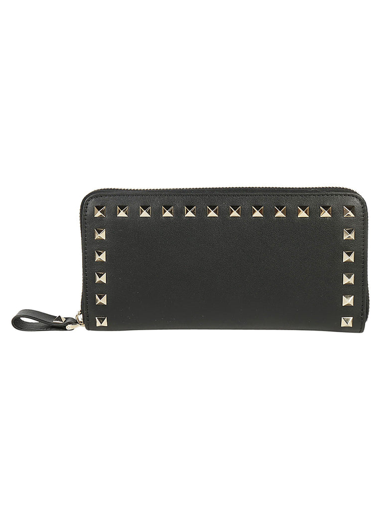 Valentino Garavani Rockstud Zip Around Wallet