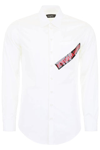 Dsquared2 Logo Button-Up Shirt
