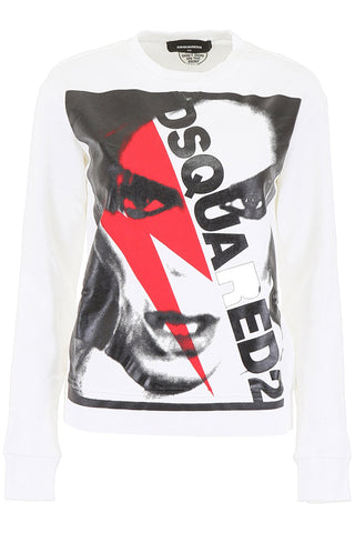 Dsquared2 David Bowie Logo Print Sweatshirt