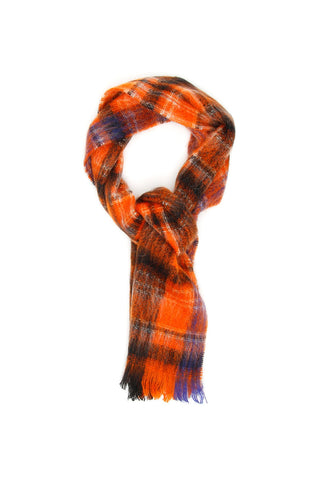 Marni Large Check Patterned Scarf