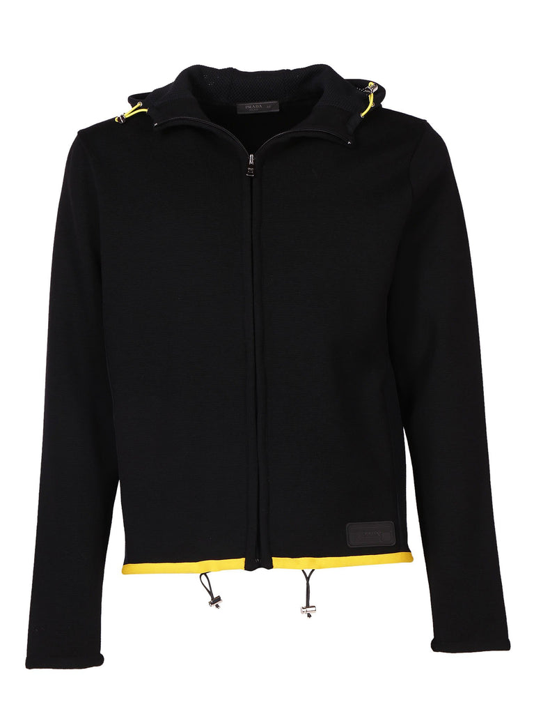 Prada Hooded Zip Sweater