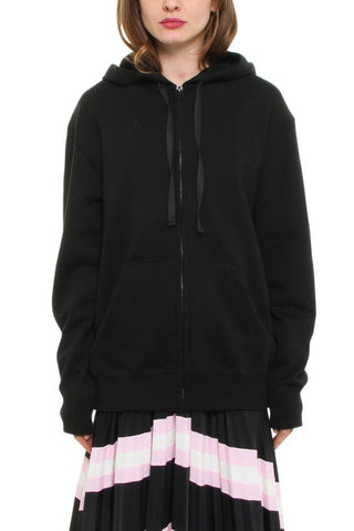 Valentino Logo Embroidered Hooded Jacket