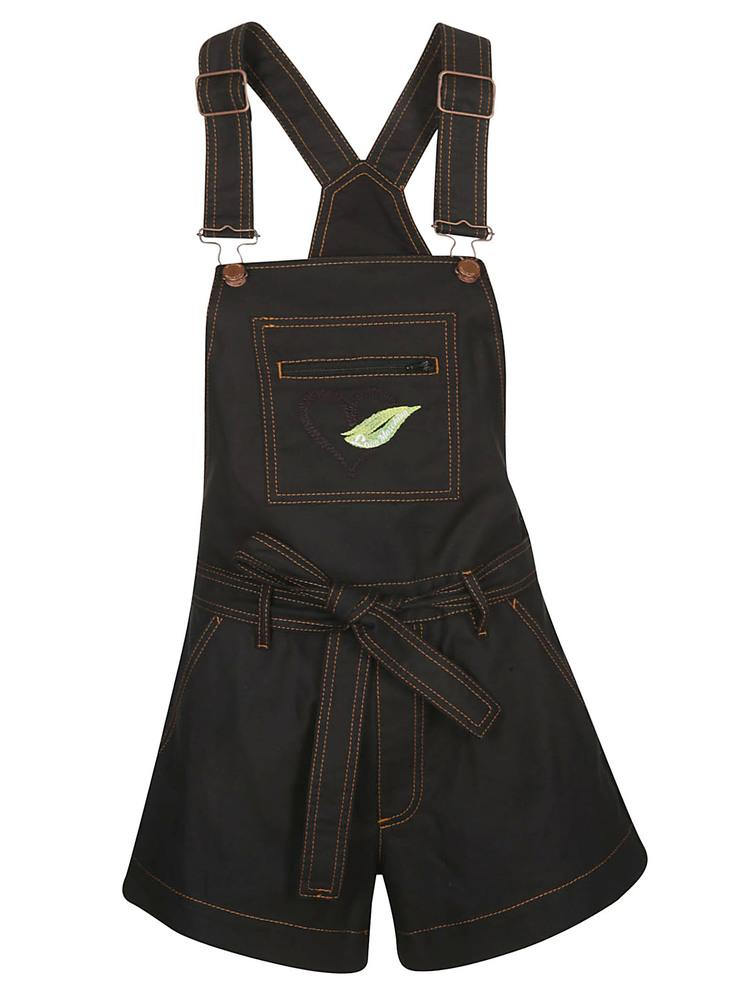 Love Moschino Embroidered Belted Dungarees