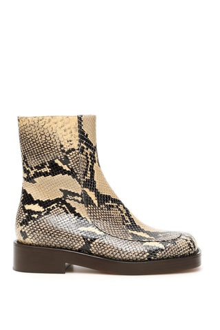 Marni Zip-Up Snake Effect Ankle Boot
