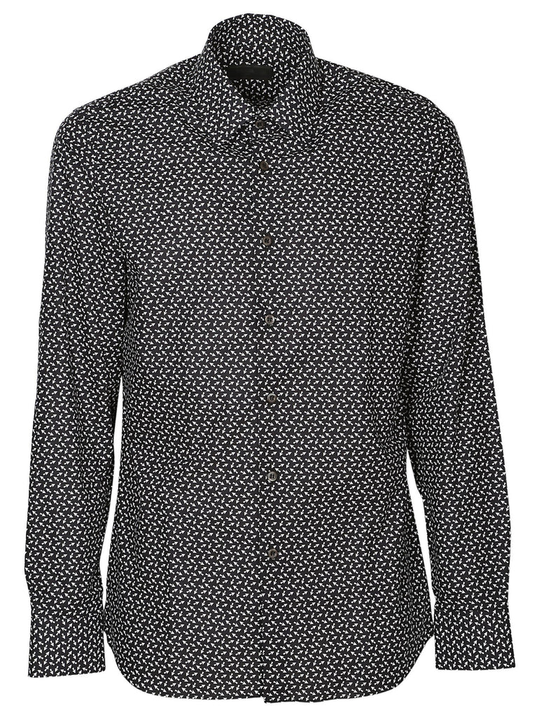 Prada Ditzy Arrow Print Shirt