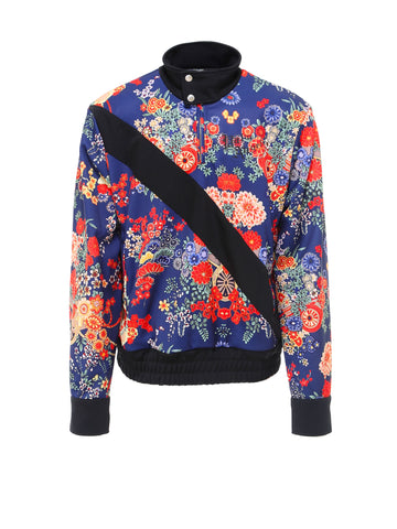 Palm Angels Floral Printed Zip-Up Sweater