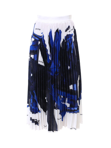 Off-White Brush Stroke Plisse Skirt
