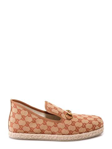 Gucci GG Monogram Print Loafers