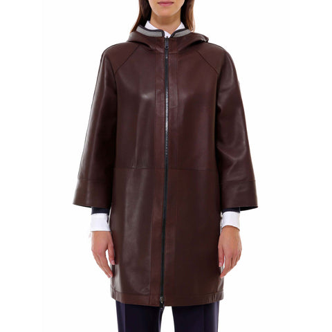 Brunello Cucinelli Hooded Zip-Up Coat