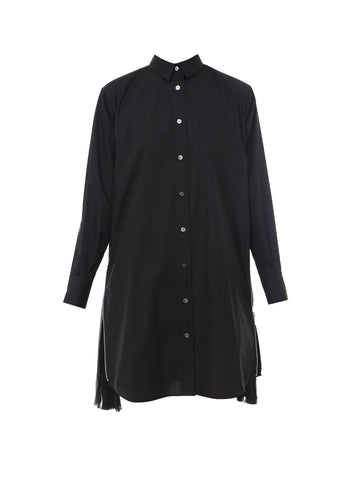 Sacai Tulle Detail Shirt Dress