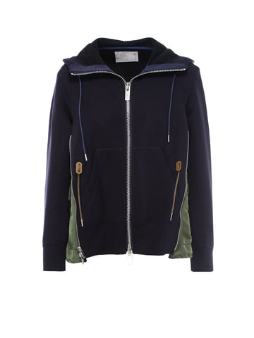 Sacai Zipped Hooded Jacket