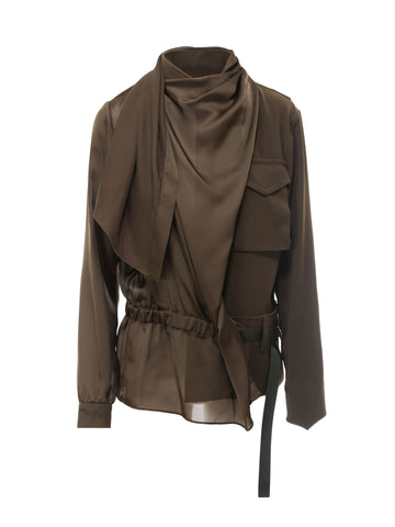 Sacai Draped Belted Shirt