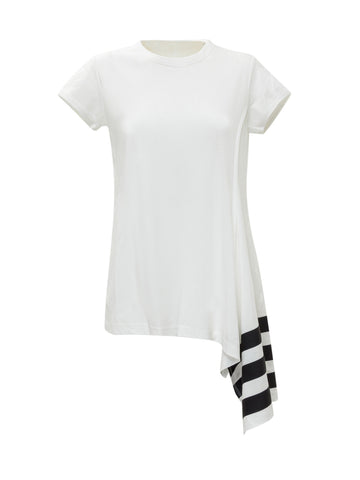 Y-3 Asymmetric-Hem Short Sleeve T-Shirt